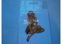 Sticker pin up plage