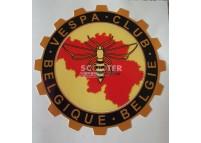 Autocollant VESPA CLUB - BELGIQUE BELGIE