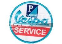 Ecusson VESPA SERVICE bleu