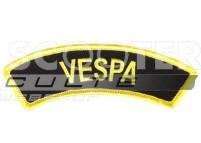 Ecusson VESPA NOIR/ JAUNE