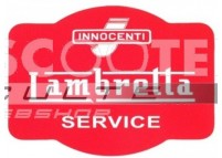 Autocollant LAMBRETTA SERVICE
